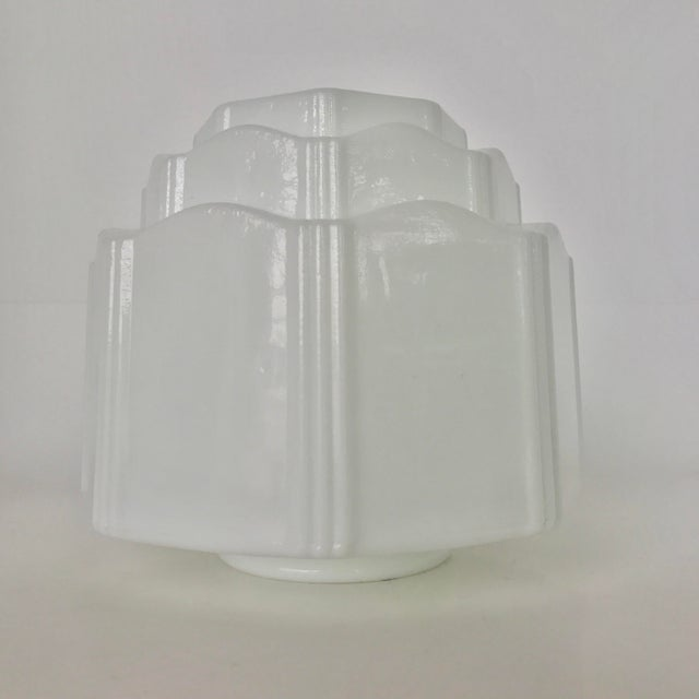Art Deco Milk Glass Globe Replacement - Image 4 of 6