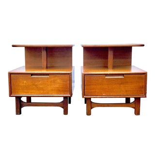 Kent Coffey Style Mid-Century Nightstands - A Pair