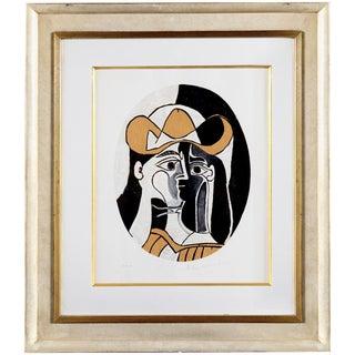 """Pablo Picasso """"Femme Au Chapeau"""" Lithograph"""
