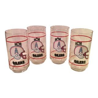 Houston Oilers Tumbler Glasses - Set of 4
