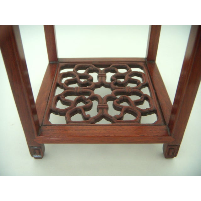Ornate Chinese Rosewood Display Stand - Image 4 of 8