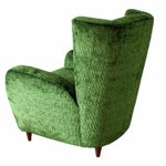 Image of Upholstered Wingback Club Chairs - A Pair