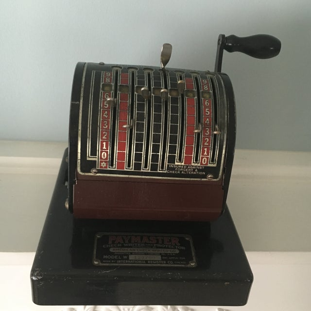 1930s Antique Paymaster Office Check Writer - Image 2 of 11