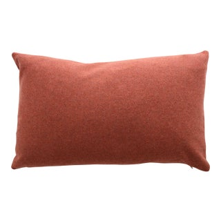 Italian Orange Sustainable Wool Lumbar Pillow