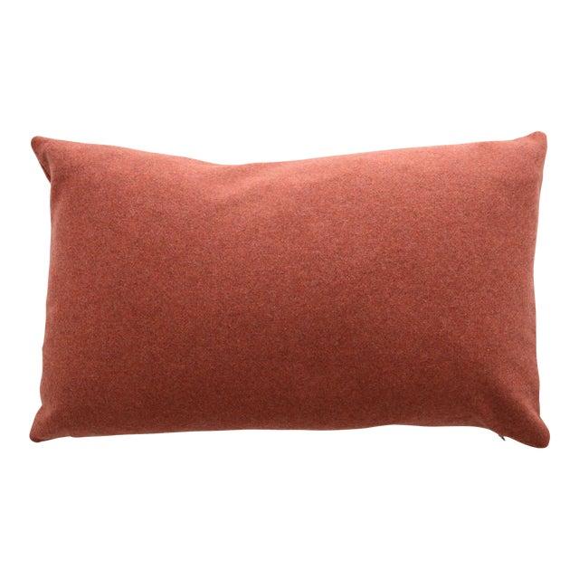 Italian Orange Sustainable Wool Lumbar Pillow - Image 1 of 5
