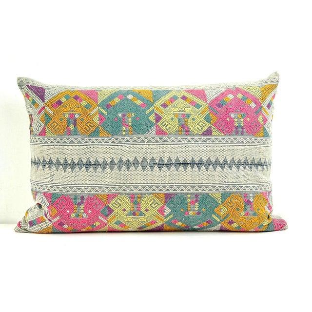 Vintage Lao Textile Custom Pillow - Image 2 of 4