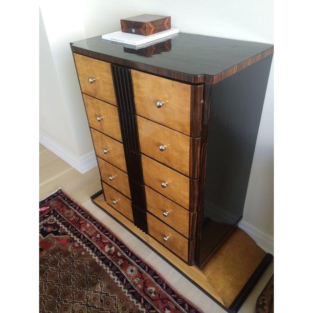 1920s Art Deco Zebra Wood Dresser - Image 4 of 4