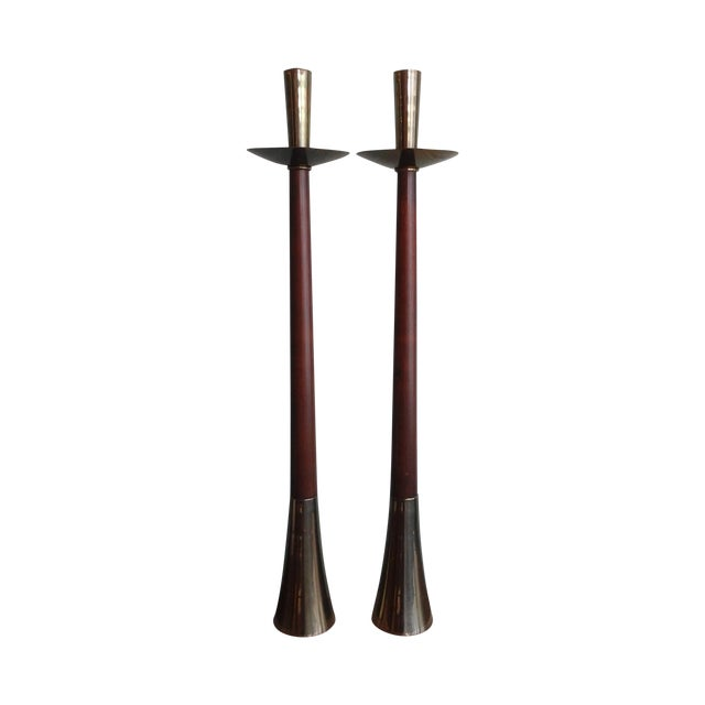 Image of Vintage 60s Mid-Century Modern Tall Candle Holder