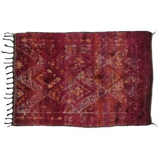 Berber Moroccan Rug in Raspberry Sorbet, 6'3x8'10