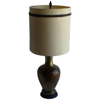 Hollywood Regency Large Brass Lamp