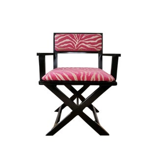 Vintage Black & Pink Chair