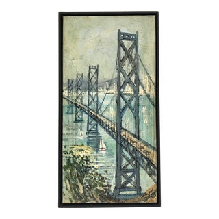 San Francisco - Oakland Bay Bridge Oil on Board