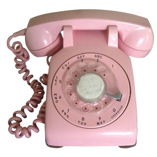 Vintage Pink Rotary Dial Telephone