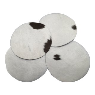 Genuine Brazilian Cowhide Coasters - Set of 4