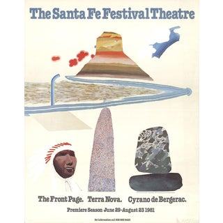 "David Hockney ""The Santa Fe Festival Theater"" 1981 Lithograph Poster"