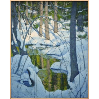 Stephen Remick Painting of a Brook in the Winter