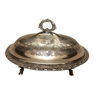 Covered Silverplate Serving Dish