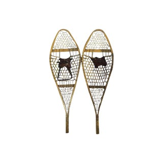European Wood Snowshoes - A Pair