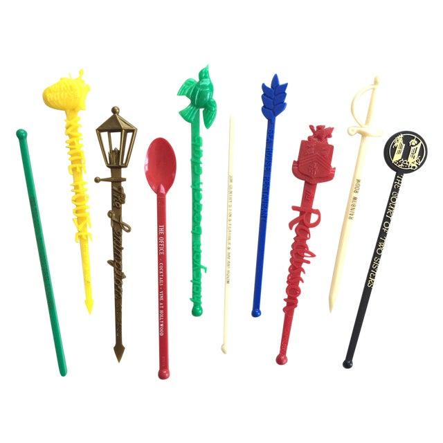 Image of Vintage Swizzle Sticks - Set of 10
