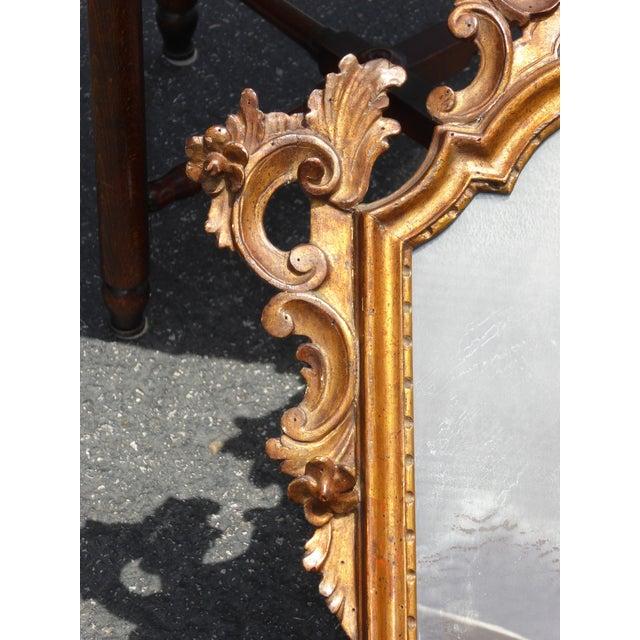 Antique Italian Rococo Giltwood Wall Mirror - Image 11 of 11
