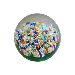 Mid-Century Millefiori Glass Paper Weight