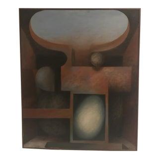 Mid-Century Arthur Schmitz Abstract Painting, 1971