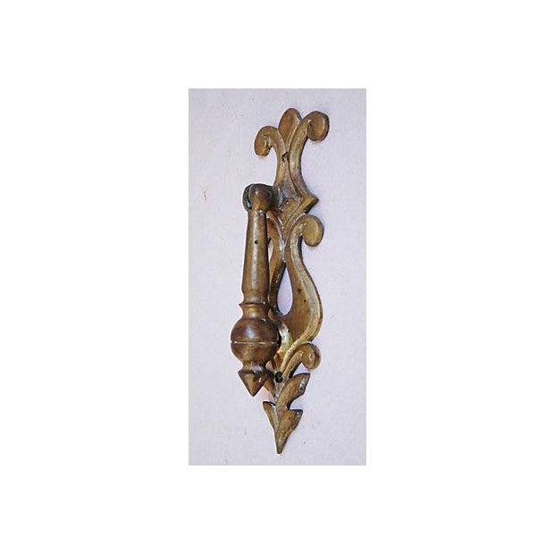 Image of Large 1950s Ornate French Brass Door Knocker