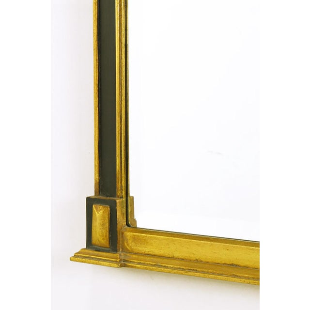 Empire Revival Parcel-Gilt and Black Lacquer Wall Mirror - Image 5 of 7