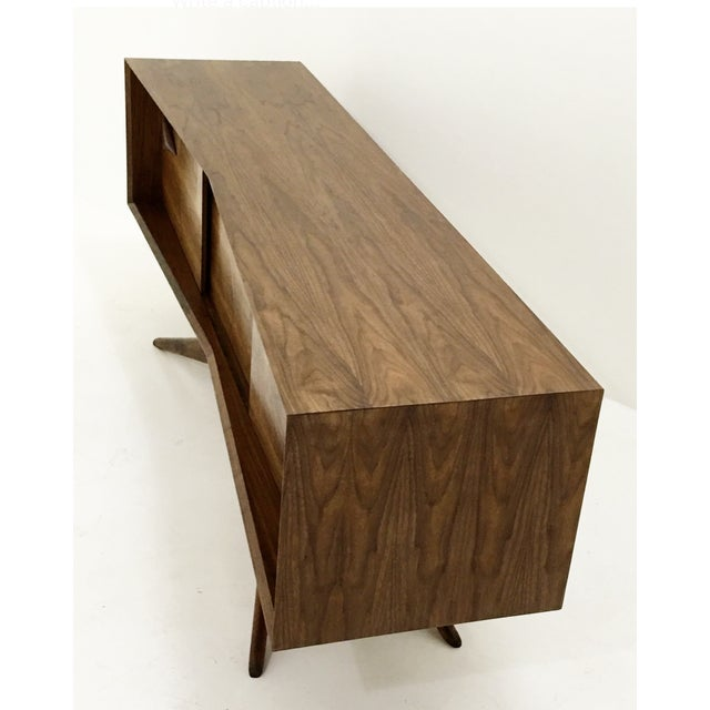Walnut Credenza With Hand Carved Handles - Image 4 of 5