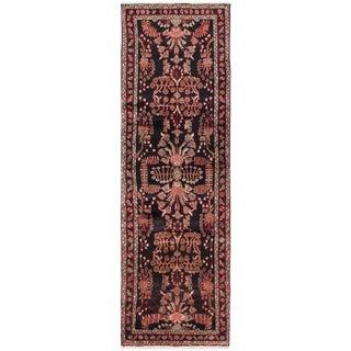 "Vintage Hamadan Persian Rug - 3' x 9'10"""