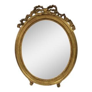 French Gilt Ribbon Mirror