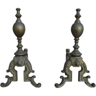 French Antique Andirons - A Pair