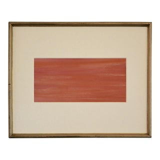 Original Abstract Pink Painting in Gold Frame