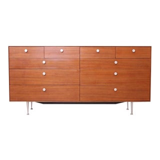 George Nelson Thin Edge Chest of Drawers in Walnut by Herman Miller