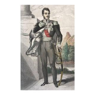 19th C. Steel Engraving of Prince Josef Poniatowski
