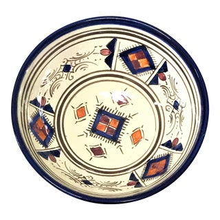 Moroccan Hand Painted Small Blue Bowl
