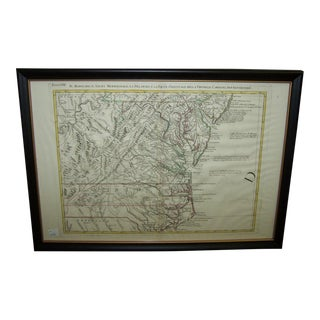 Hand Colored 18th Century America Map