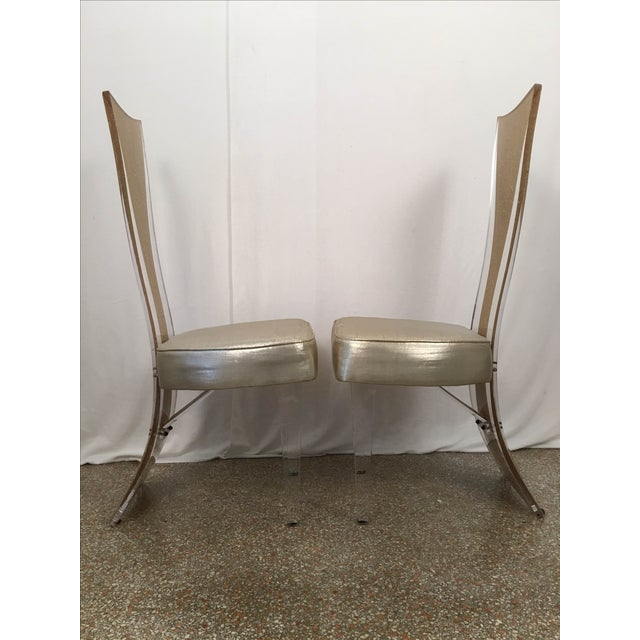 Vintage Glam & Unique Lucite Dining Chairs - Set of 6 - Image 7 of 9