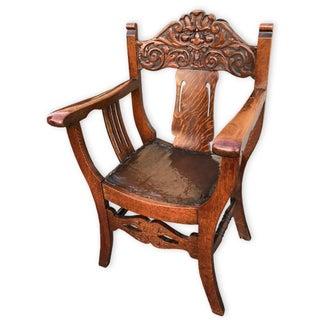 Antique Stomps Burkhardt North Wind Tiger Oak Chair