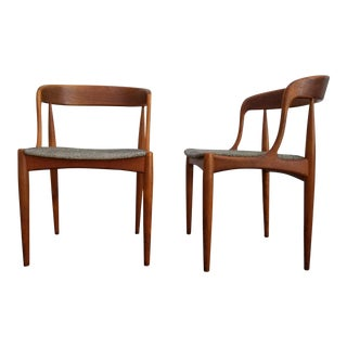 Johannes Andersen Teak Dining Chairs - A Pair