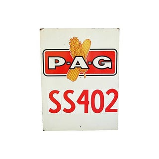 1960s P-A-G Corn Farm Sign