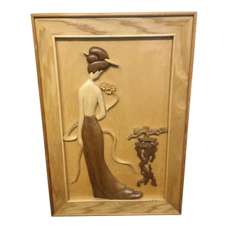 Wooden Female Wall Art