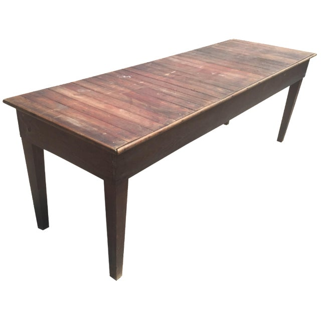 Antique Farmhouse Dining Table - Image 1 of 4