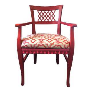 Red Painted Accent Chair
