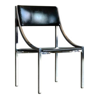 Wolfgang Hoffmann Side Chair in Chrome and Vinyl for Howell Company