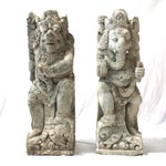 Image of Antique Carved Sandstone Hindu Deities - A Pair