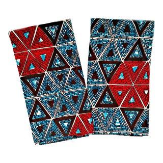 African Wax Print Fabric Dinner Napkins - Set of 6