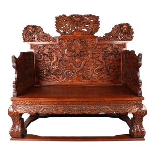 Chinese Huanghuali Dragon Throne Chair