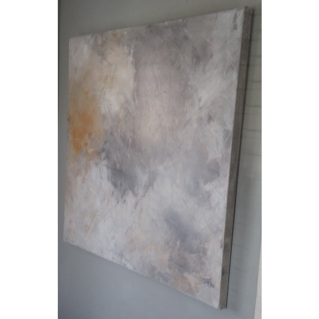 "Image of ""Grey Sky"" Abstract Painting by Kris Gould"