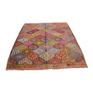 Vintage Turkish Kilim Rug - 5′11″ × 8′1″